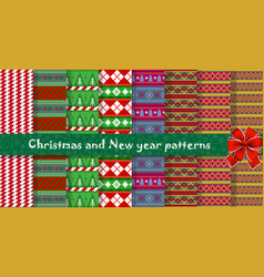 Big festive set of cute multicolor christmas or vector