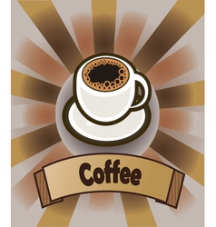 coffee cup Menu vector image vector image