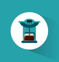 Coffee maker glass pot image vector