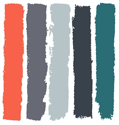Grunge paint roller strokes brush strokes vector image vector image