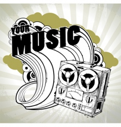 hand drawn musical poster vector image