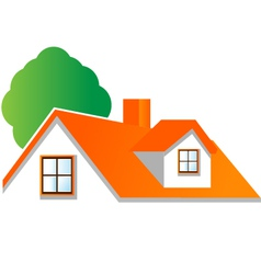 House roof logo for real estate companies vector image vector image