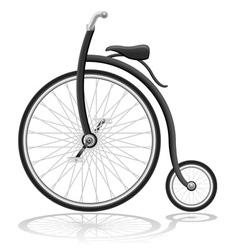 old retro bike vector image