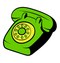 phone icon cartoon vector image