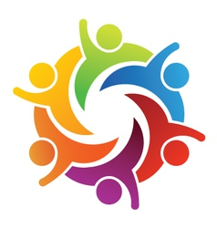 Teamwork Six people vector image