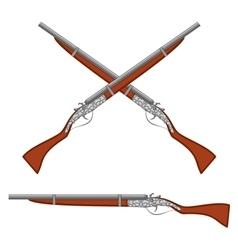 Ancient rifles vector image