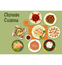 Chinese cuisine restaurant dinner dishes icon vector image vector image