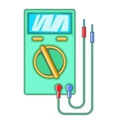 Digital multimeter icon cartoon style vector