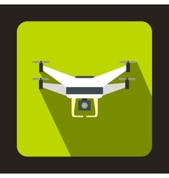 Drone with camera icon flat style vector image vector image