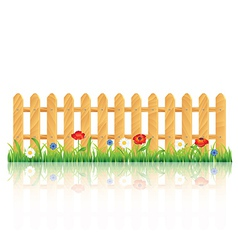 fence grass vector image