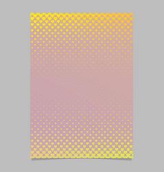 gradient heart pattern brochure template - vector image vector image
