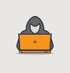 Hacker line icon vector image vector image
