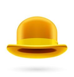 Yellow bowler hat vector image vector image