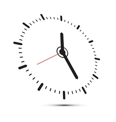 Abstract Alarm Clock Isolated on White Background vector image
