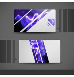 Blue Modern Business Card vector image