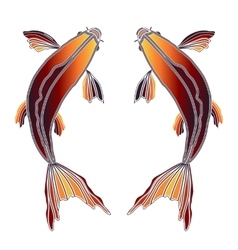 Bright fishes zodiac Pisces sign vector image vector image
