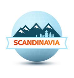 logo with scandinavian landscape vector image vector image