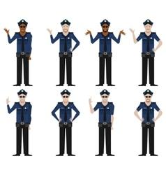 Set of Police men2 vector image vector image