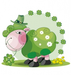 St Patrick's sheep vector image vector image