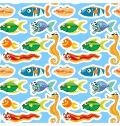 various sea animals vector image
