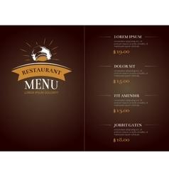 Cafe restaurant menu template identity vector image