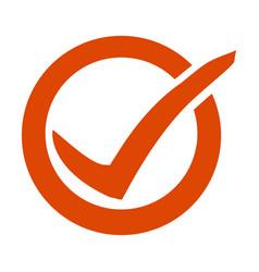 colorful check mark ok flat icon vector image