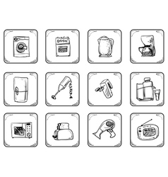 Household equipment icons vector image vector image