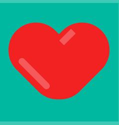 minimal red heart emblem vector image