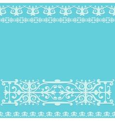 ornament blue vintage background vector image