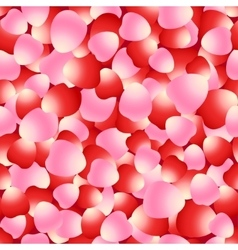 Red and pink rose petals seamless pattern vector image vector image