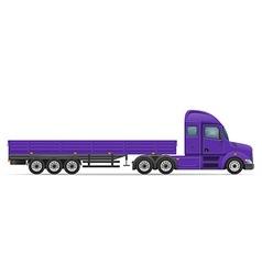 semi truck trailer 02 vector image vector image