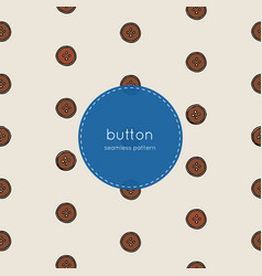 wood button seamless pattern vector image