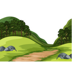 a green nature landscape vector image