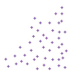 abstract purple geometric medical cross shape vector image