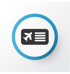 airplane ticket icon symbol premium quality vector image