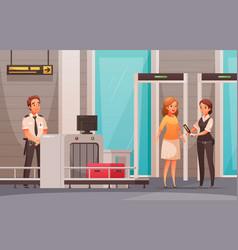 airport cartoon background vector image
