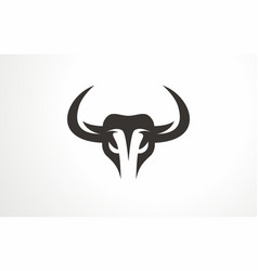 Animal bull bison logo buffalo abstract vector