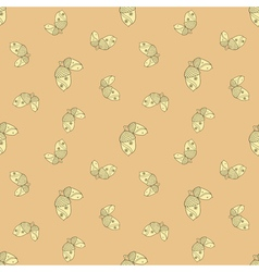 Autumn seamless patterned background vector
