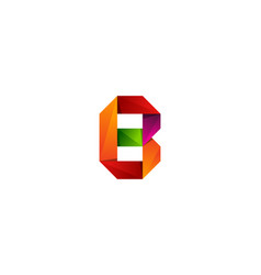 b ribbon letter logo icon design vector image