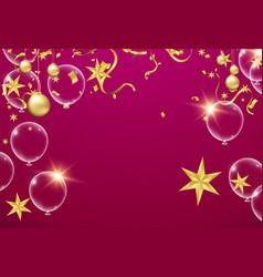 balloon of happy new year place for christmas vector image