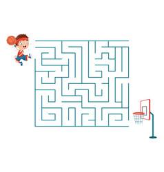 Basketball maze vector