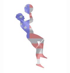 basketball throw vector image