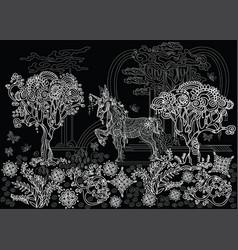 black relax decor-1 vector image