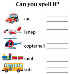 can you spell it transport vector image