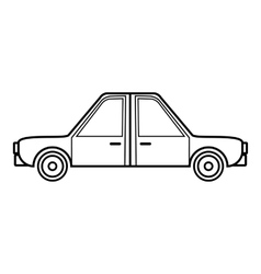Car icon outline style vector