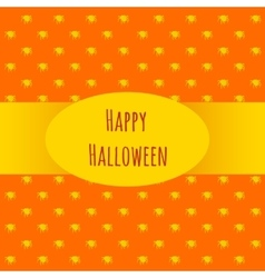 Card happy Halloween on an orange background vector image