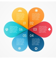 circle color leaves infographic Template for vector image