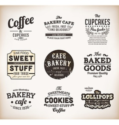 Coffee label set vector