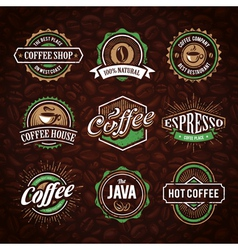Coffee Shop Emblems 1 vector