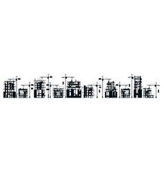 collection buildings under construction set vector image